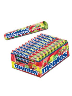 Mentos Duo Strawberry Lime 40 rollen